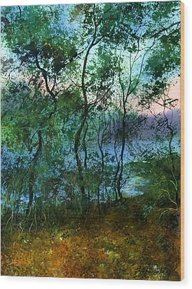Behind The Trees Wood Print by Sergey Zhiboedov