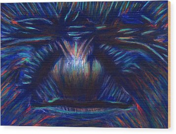 Being Blue Hurts Wood Print by D Rogale