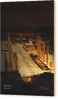 Beit She'an - Ancient Site - Colonnade.. Cardo Wood Print
