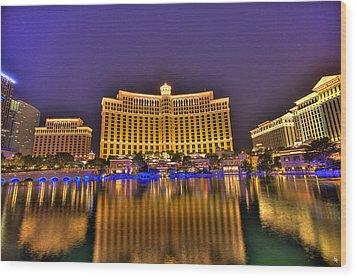 Belagio Las Vegas Wood Print by Nicholas  Grunas