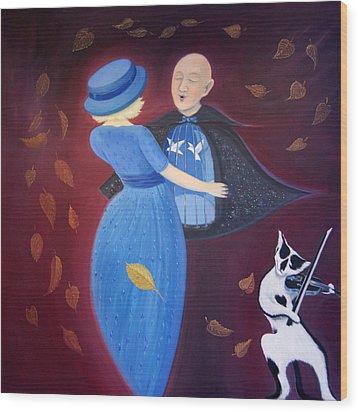 Wood Print featuring the painting Belgian Autumn Dance by Tone Aanderaa
