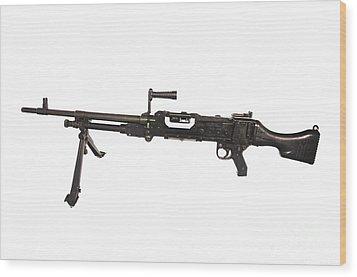 Belgian Fn Mag 7.62mm General Purpose Wood Print by Andrew Chittock