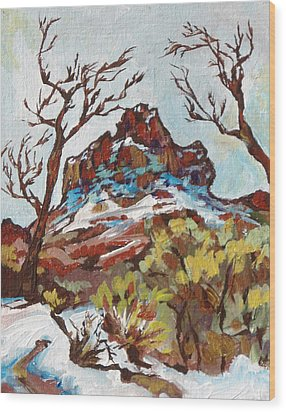 Bell Rock 3 Wood Print by Sandy Tracey