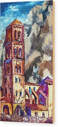 Bell Tower South Of France Wood Print by Ginette Callaway
