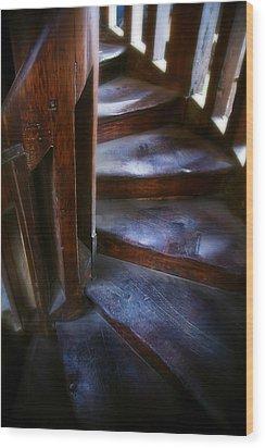 Bell Tower Steps II Wood Print by John  Bartosik