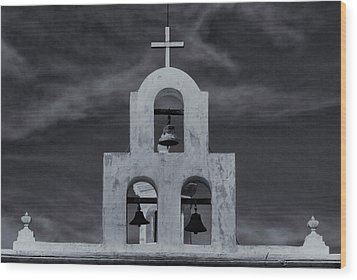 Wood Print featuring the photograph Bell Tower by Tom Singleton