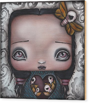 Bella Wood Print by  Abril Andrade Griffith