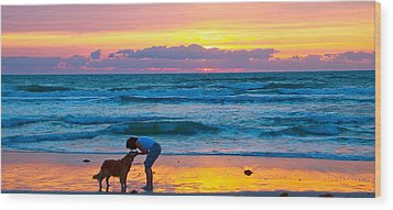 Wood Print featuring the photograph Bella At Sunrise by Alice Gipson