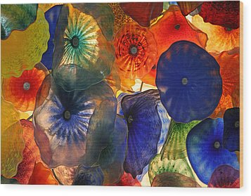 Bellagio Crystal Celing Lights Wood Print