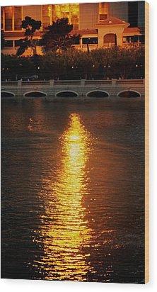 Wood Print featuring the photograph Bellagio Sunset by Joe Urbz