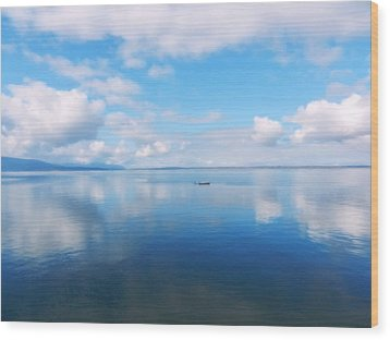 Bellingham Bay In Blue Wood Print by Karen Molenaar Terrell