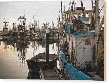 Wood Print featuring the photograph Bellingham Fishing Boats by Craig Perry-Ollila