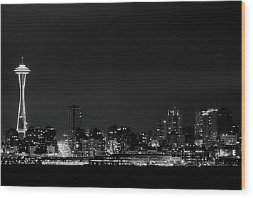 Belltown & Space Needle Wood Print by Andrew A Smith