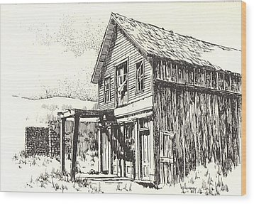 Belmont Ghost Town Nevada Wood Print by Kevin Heaney