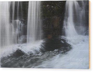 Below The Falls Wood Print by Bob Christopher