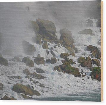 Below The Waterfall Wood Print by Naomi Berhane