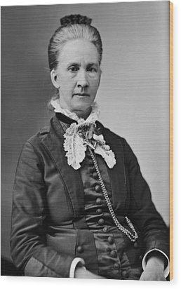 Belva Lockwood 1830-1917, Was A Lawyer Wood Print by Everett