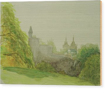 Belveder Castle Central Park Ny Wood Print