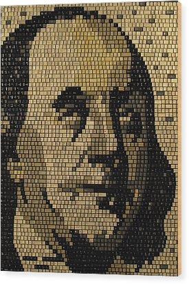 Ben Franklin Wood Print