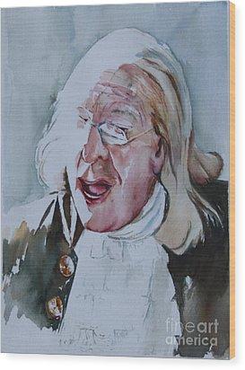Ben Franklin Of Philadelphia Wood Print by Peg Ott Mcguckin