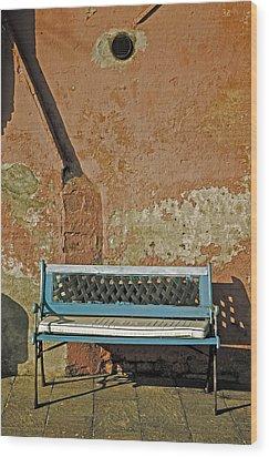 Bench Wood Print by Joana Kruse