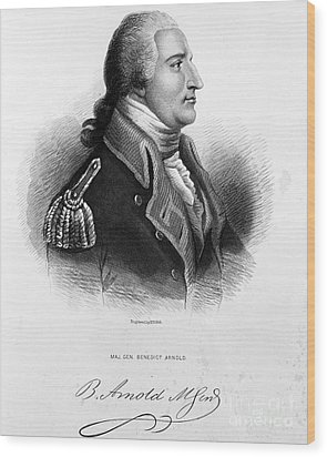 Benedict Arnold, American Traitor Wood Print by Omikron