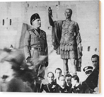 Benito Mussolini, 1943 Wood Print by Everett