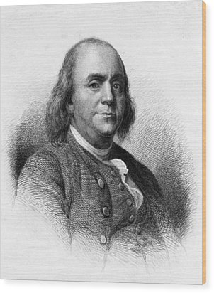 Wood Print featuring the photograph Benjamin Franklin by International  Images