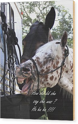 Benson Mule Day Birthday Card Photo Wood Print by Travis Truelove