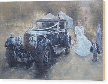 Bentley And Bride  Wood Print by Peter Miller