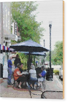 Bentonville On The Square Wood Print by Ann Powell