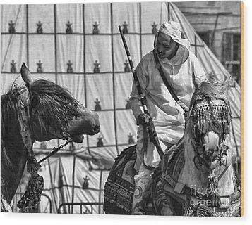 Berber Bw Wood Print by Chuck Kuhn
