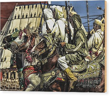 Berber Soldiers Wood Print by Chuck Kuhn