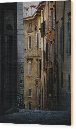 Bergamo Alley Wood Print by Perry Van Munster