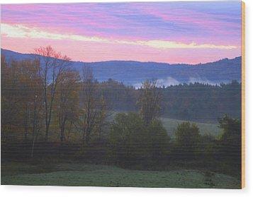 Berkshires Sunrise Wood Print by Todd Breitling