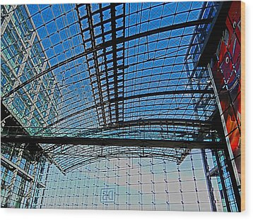 Berlin Central Station ...  Wood Print by Juergen Weiss