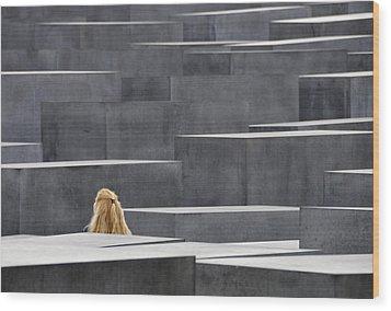 Berlin Germany Holocaust Memorial Wood Print by Matthias Hauser