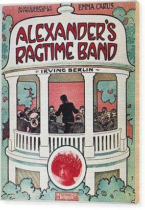 Berlin: Ragtime Band, 1911 Wood Print by Granger