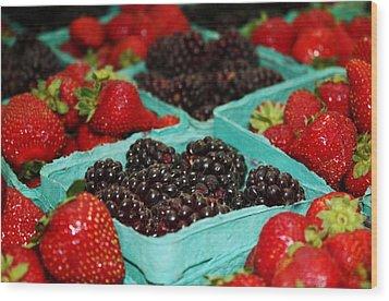 Berries Wood Print by Cathie Tyler