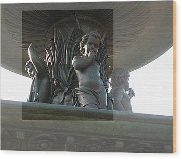 Wood Print featuring the photograph Bethesda Fountain by Sarah McKoy