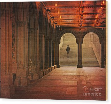 Wood Print featuring the photograph Bethesda Passage by Deborah Smith