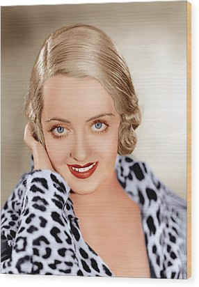 Bette Davis, Ca. 1932 Wood Print by Everett