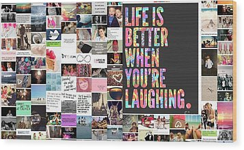 Better To Laugh Wood Print by Holley Jacobs