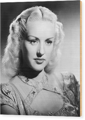 Betty Grable, 1947 Wood Print by Everett