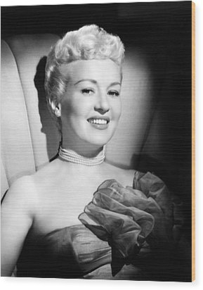 Betty Grable, 20th Century-fox, Late Wood Print by Everett