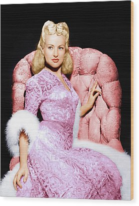 Betty Grable, Ca. 1940s Wood Print by Everett