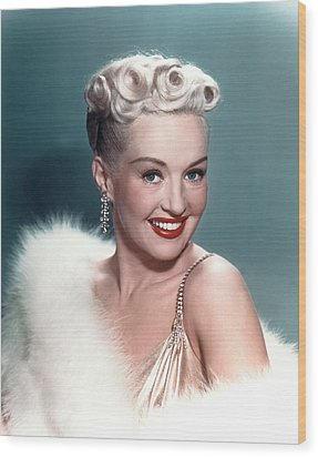 Betty Grable Wood Print by Everett
