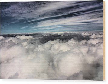 Between Heaven And A Soft Place Wood Print by Kristin Elmquist