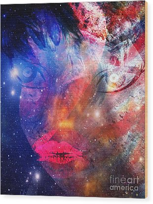 Between Me - Passion And Time Wood Print by Fania Simon