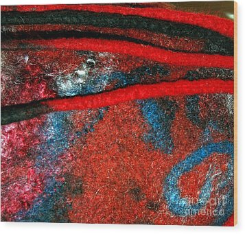 Between The Felted Lines    Wood Print by Alexandra Jordankova